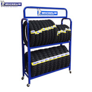 Michelin Promotional Tyre Stand (Blue) Holds 20 Tyres
