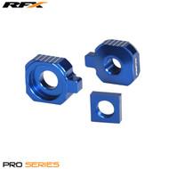 RFX Pro Rear Axle Adjuster Blocks (Blue) Husqvarna TC65 17>On