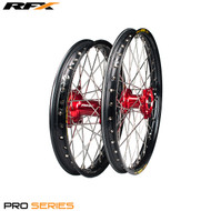 "RFX Pro Series Wheel  Front And Rear Set (Black Rim/Red Hub) [19"" x  1.85] Honda CRF250 14>On CRF450 13>On"
