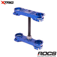 Xtrig ROCS Tech Triple Clamp Set (Blue) Husqvarna TC65 17>On (22mm offset) M12