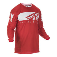 Fly 2019 Kinetic Shield Adult Jersey (Red/White)