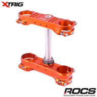 Xtrig ROCS Tech Triple Clamp Set (Orange) KTM EXC Models 14-16 20mm offset
