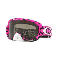 Oakley O Frame 2.0 TLD Collection MX Goggle (Faded Dot Pink) Dark Grey Lens