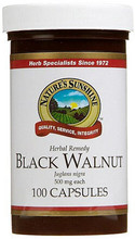 Contains Black Walnut Hulls (Juglans Nigra) Black Walnut Hulls, 500mg per Capsule