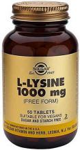 Each tablet contains L-Lysine (as L-lysine HCl) (Free Form) - 1000 mg