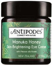 Skin-Brightening Eye Cream with Persian Silk Flower, New Zealand Manuka Honey Active 20+, Vinanza® Grape Seed and Kiwi Skin, to Brighten Delicate Skin
