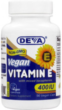 Each Capsule Contains 400IU of Plant Souced Vitamin E with Mixed Tocopherols, Providing a Total of Four Different Tocopherols, D-alpha, D-beta, D-gamma and D-delta Tocopherol