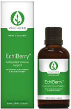 Contains Organic Echinacea Purpurea Root with Manuka Honey, Elderberry and New Zealand Blackcurrant