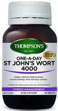 Contains Standardised St. John's Wort Extract Providing 2.2mg Hypericin per Tablet, Supplied as a One-A-Day Dose