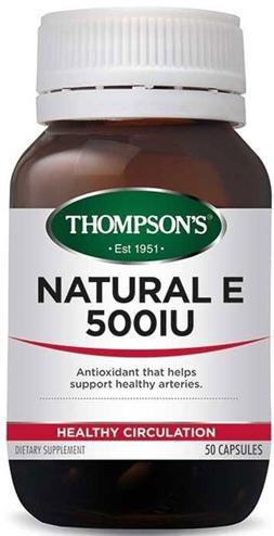 Thompson S Natural Vitamin E 500iu Complex Capsules 50