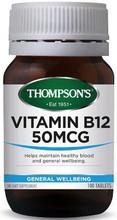 Contains Vitamin B12 (Cyanocobalamin) - 50 mcg per tablet