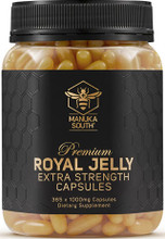 Each capsule contains 1000mg Royal Jelly (as equivalent to 1.1% 10-HDA)
