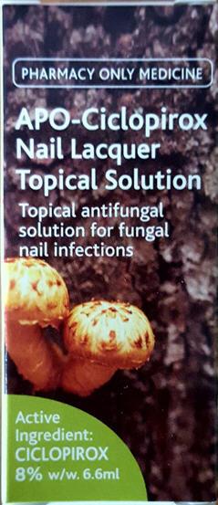 Apo-Ciclopirox Antifungal Nail Solution 7ml