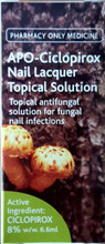 Topical Anti-fungal Nail Laquer Solution with Active Ingredient Ciclopirox for Fungal Nail Infections
