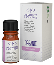 Contains the Pure Essential Oil of Certified Organic Anthemis nobilis (Flower)