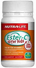 Nutra-Life Ester C For Kids 100mg Chewable Tablets 60