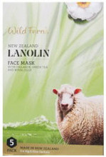 Intensively Cleansing and Moisturising Face Masks Made with 99% Natural Ingredients, Providing New Zealand Lanolin with Collagen, Green Tea and Royal Jelly