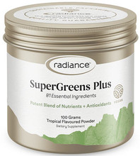 Great-Tasting Green Vegan Superfood Powder Containing 81 Ingredients for Super Nutrition