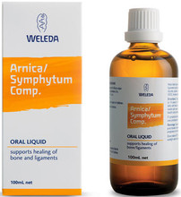 Contains equal parts of: Allium cepa 3x; Arnica 3x; Ruta graveolens 3x; Symphytum, decoct. 3x; in water/ethanol base to Help Heal Bones and Ligaments