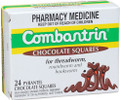 Contains active ingredient Pyrantel Embonate, equivalent to 100mg per chocolate square