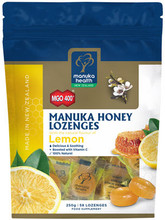 Made with High Grade Premium MGO™ 400+ Manuka Honey with the Fresh Natural Flavour of Lemon