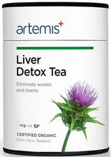 Contains Certified Organic Herbs of Calendula officinalis, Taraxacum officinale, Foeniculum vulgare, Cynara scolymus, Mentha piperita and Silybum marianum to Support Liver Health