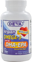 Contains both DHA and EPA Derived from a Completely Vegetarian Source - Schizochytrium sp microalgae