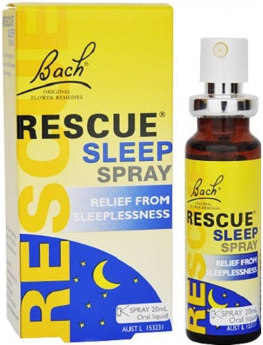 Bach rescue sleep spray 20ml contains the 5 bach flower remedies in rescue remedy with added white chestnut to help remove mightylinksfo