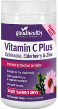 Contains Vitamin C Plus Echinacea, Elderberry and Zinc Formulated as a Berry Flavoured Chewable Tablet