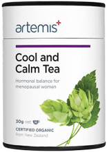 Contains Certified organic herbs: Hops, Lavender, Licorice root, Motherwort, Sage,  St John's Wort and Yarrow for Menopause support