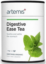 Contains Certified Organic Herbs: Aniseed, Chamomile, Cinnamon, Dandelion Root, Fennel Seed, Licorice Root and Peppermint to Support a Healthy Digestive System.
