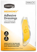Waterproof, Latex-Free Hydrogel Dressings Infused with Antibacterial Medical Grade Manuka Honey