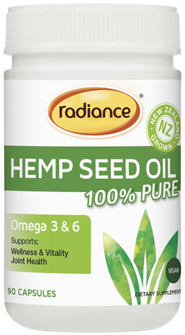 Radiance Hemp Seed Oil 100% Pure Capsules 90