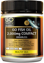 Contains a concentrated source of EPA and DHA Omega 3 Fatty Acids equivalent to 2,000mg natural Fish Oil.