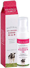 Contains USDA Organic Certified, Cold Pressed Rosehip Oil in Airless and Lightless Bottles.