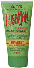 Contains active constituent: Diethyltoluamide - 800g/kg (80% Deet) which  Repels for Hours in Areas of Intense Insect Activity, Including Sandflies, Mosquitoes, Ticks, Leeches and Marchflies