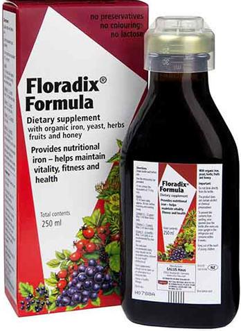 Floradix Iron Tonic Formula 250ml - New Zealand Only
