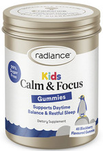 Contains Magnesium with L-theanine in a Blackberry Flavoured Sugar Free Gummy to Support Calm and Settled Behaviour in Children