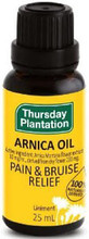100% naturally derived Arnica Oil to relieve pain and promote bruise healing.