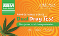 SBM Professional Drug Test Marijuana & Methamphetamine - 2 Tests