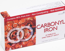 Carbonyl Iron is Essentially Pure Iron (98%) to Supplement Iron Levels in the Body