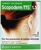 Scopoderm TTS 1.5 Scopolamine Patches has been designed to prevent motion sickness by car, boat, aeroplane or train.