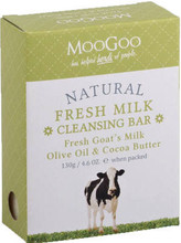 Fresh Goat's Milk, Olive Oil & Cocoa Butter Cleansing Bar, Suitable for All Skin Types, Especially Ideal for Irritated and Dry Skin