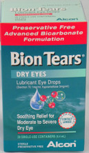 Bion Tears Lubricant Eye Drops is an advanced preservative free, bicarbonate based formulation.