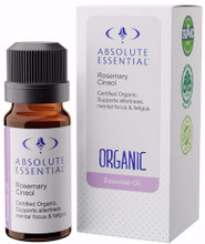 Contains Certified Organic Rosmarinus officinalis cineol, leaf / flower, distilled, from France