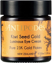 Contains 23k gold to bring calm to stressed skin, with Vitamin C from New Zealand superfruit, kiwifruit to moisturise and soften fine lines