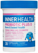 Each capsule contains: 10 Billion Live Bacteria + 1000IU Vitamin D for bone and bowel health