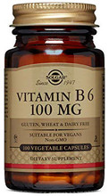 Contains Vitamin B6, Pyridoxine Hcl, 100mg per vegetarian capsule