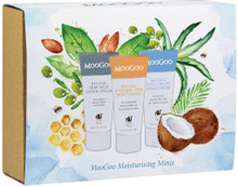 Contains MooGoo's 3 Most Popular Moisturisers in Mini Travel Sizes to Take with You Anywhere