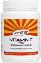 Buffered, low allergenic Vitamin C formula to assist in Vitamin C deficiencies